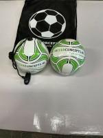 Mini Bal + Mini Soccer Bal aan koord in draagtas