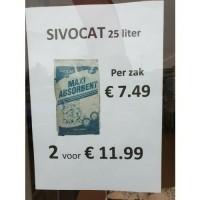 Kattenbakvulling sivocat 2 zakken voor