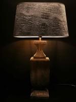 Houten balusterlamp