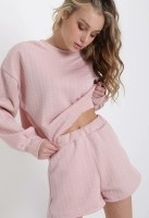 Pink Sweater Short Set — ONE SIZE