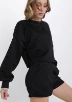 Black Sweater Short Set — ONE SIZE