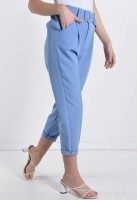 Sky Blue Business Trousers With Pockets — ONE SIZE