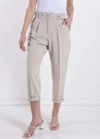 Beige Business Trousers With Pockets — ONE SIZE