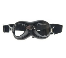 CRG zwarte steampunk rider motorbril Glaskleur: Multi-kleur