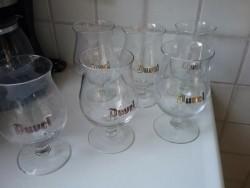 Duvel glazen , set van  6 glazen.
