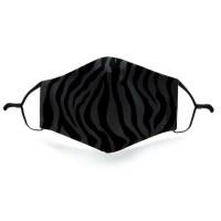 Mondkapje met 2 filters - Zebra dark