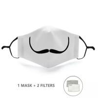 Mondkapje met 2 filters - Mustasche