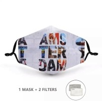 Mondkapje met 2 filters - Amsterdam