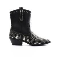 Cowboy laarzen kort met studs Zwart