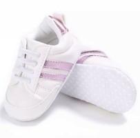 Baby sneakers sport wit Roze