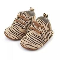 Baby mocassins Beige zebra