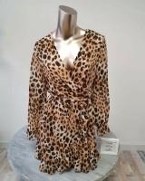 Wrap Midi Dress Leopard