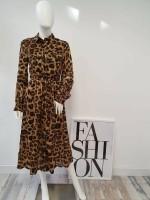 Midi Dress Leopard