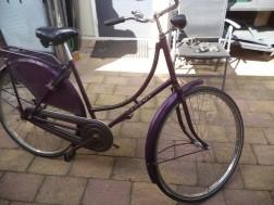 1 paarse opoe fiets opknapper maat 28inch velgen
