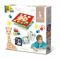 Vingerverfkaarten(Sophie la girafe junior 4-delig