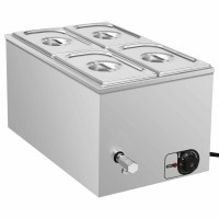 VDXL  Voedselwarmer bain-marie 1500 W GN 1/4 roestvrij staa…