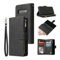 Samsung Galaxy S10 - Leren Wallet Flip Case Cover Hoesje Po…