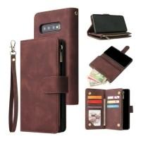 Samsung Galaxy S10 Plus - Leren Wallet Flip Case Cover Hoes…