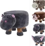 Kinder poef - voetenbank - Nijlpaard