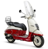 Peugeot Django Premium (Milky White Red) bij Central Scoote…