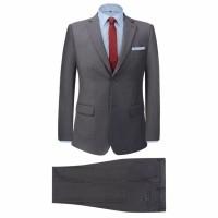 Zakelijk pak tweedelig grijs mannen maat 50