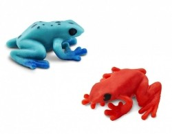 speelset Lucky Minis gifkikker 2,5 cm blauw/rood 192-delig