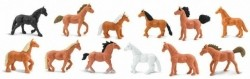 speelfigurenset Horses junior bruin/zwart/wit 12-delig