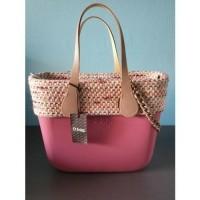 O bag mini cassis met binnentas, rand en hengsels