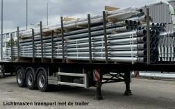 8 meter conische stalen lantaarnpaal met voetplaat / montag…