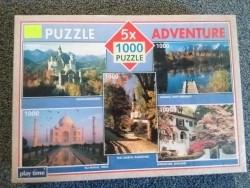 Puzzle 5x Adventure - 5x1000 stukjes (Ruilen of Bieden) NIE…