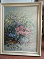 schilderij Rob de Haan bloemstilleven olieverf op doek