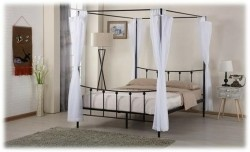 Amore Hemelbed 2-persoons Zwart of Wit