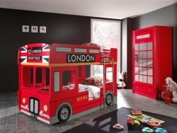 London Bus Stapelbed rood