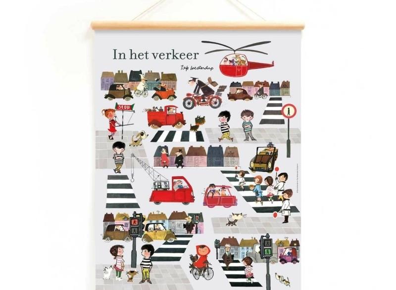 Schoolplaat 'In het verkeer'  - Fiep Westendorp