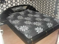 Lederlook + Gestoffeerd bed