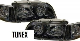 Volvo V40 S40 zwarte smoke koplampen set