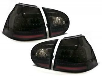 Golf V achterlichten set helder zwart LED