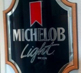 Vintage brouwerij bar reklame spiegel