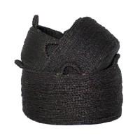 Bohemian Zeewier Mand - Les Quatre Mains Baskets Black Set…