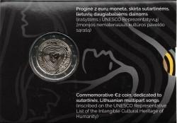 Litouwen 2 Euro 2019 Coincard Sutartines