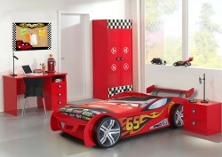 Le Mans kinderkamer Rood