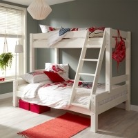 Nova Triplo 3-persoons stapelbed wit