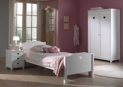 Amori 1-persoonsbed wit