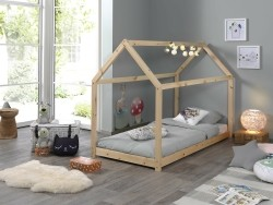 Cabane 1-persoons huisbed naturel