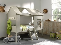 Charlotte Boomhut/huisbed in grijs-taupe