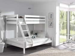 Pino 3-persoons stapelbed Wit