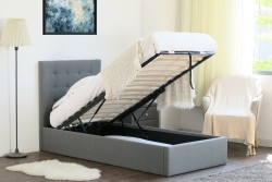 Luxor opbergbed 1-persoons grijs