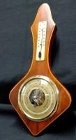 Vintage baro-/thermo,noten kl. montuur,jr, '31.5 , cm h, gs…