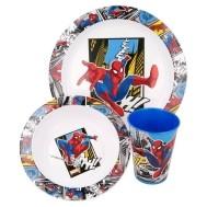Spiderman 3-delig ontbijtset + schoolset