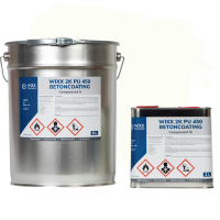 Wixx 2K PU 450 Betoncoating 10L | RAL 9010